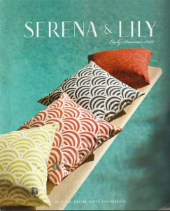 A cover shoot of the Serena & Lily Summer catalog