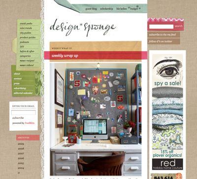Our desk as seen on design*sponge