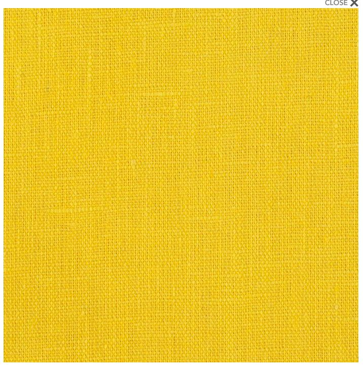 A bright, cheerful yellow linen