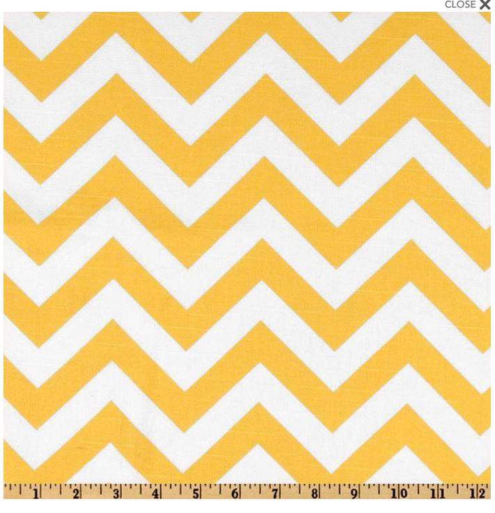 Amazing yellow zigzag and white fabric