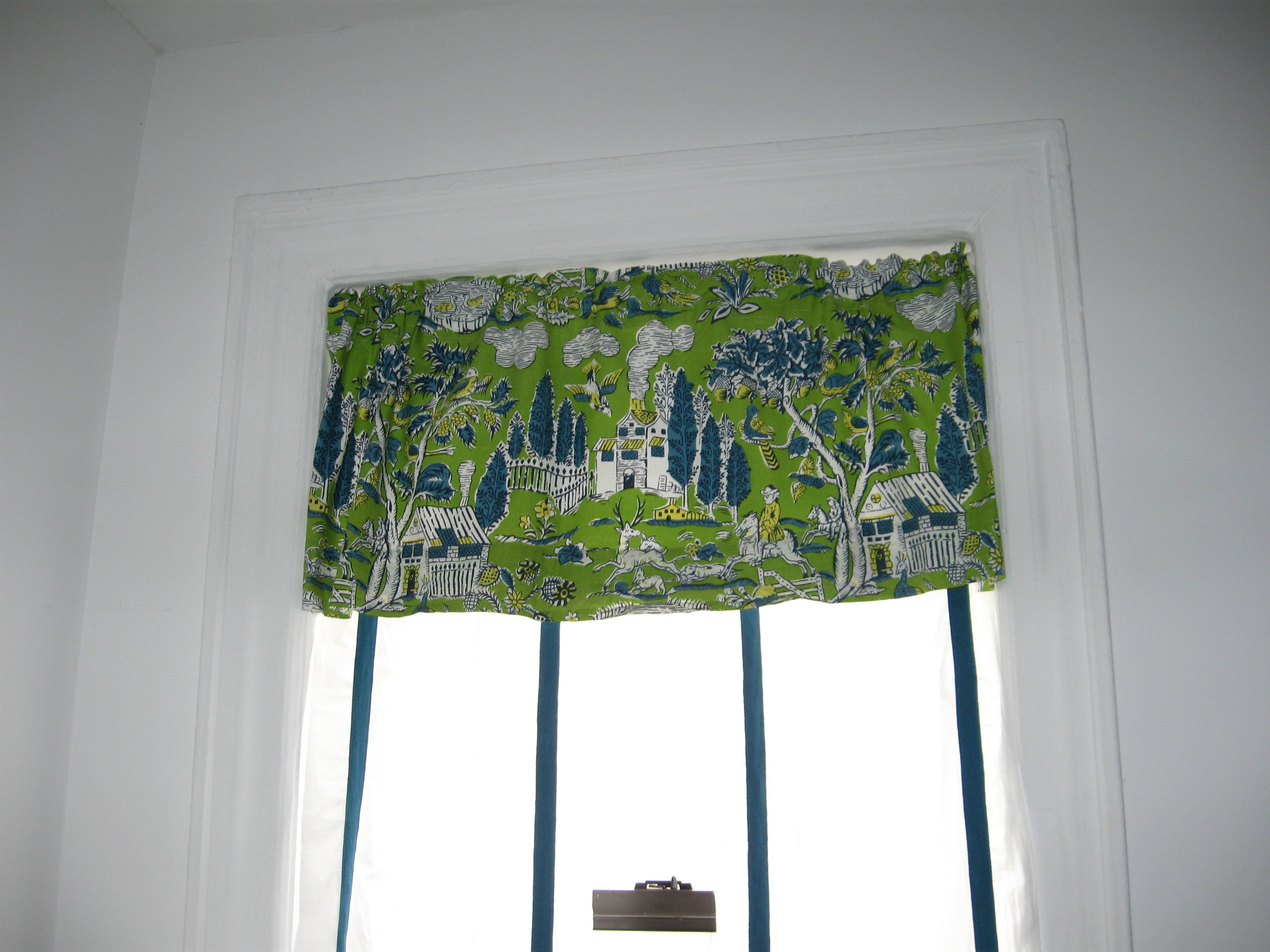Tasty new window valance fabric with twill tape curtains