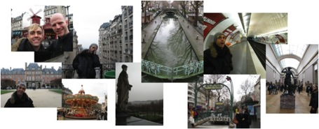 Collage of images from our trip to Paris