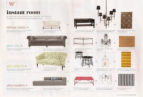 """Instant Room"" article in 'Easy Decorating' magazine"