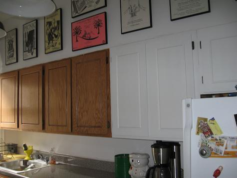 Additional shot of painted kitchen cabinet