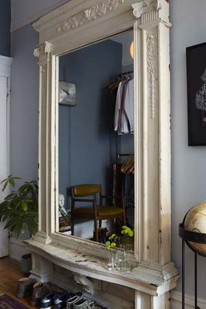 Closet mirror