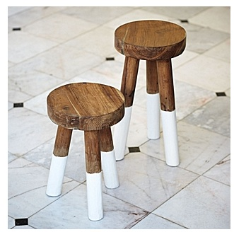 Dip-dyed stools from Serena & Lily