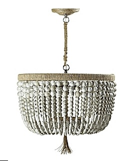 Beaded chandelier from Serena & Lily