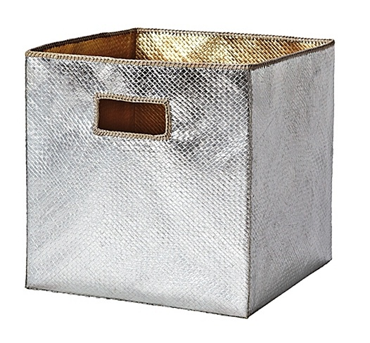 Serena & Lily metallic storage bin