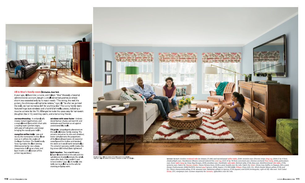 An image of the second page of Real Simple article