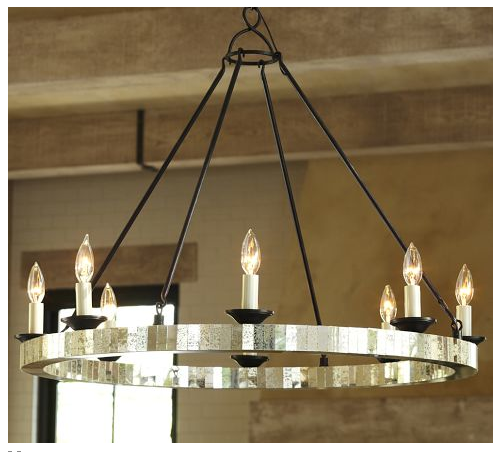 New mercury glass chandelier