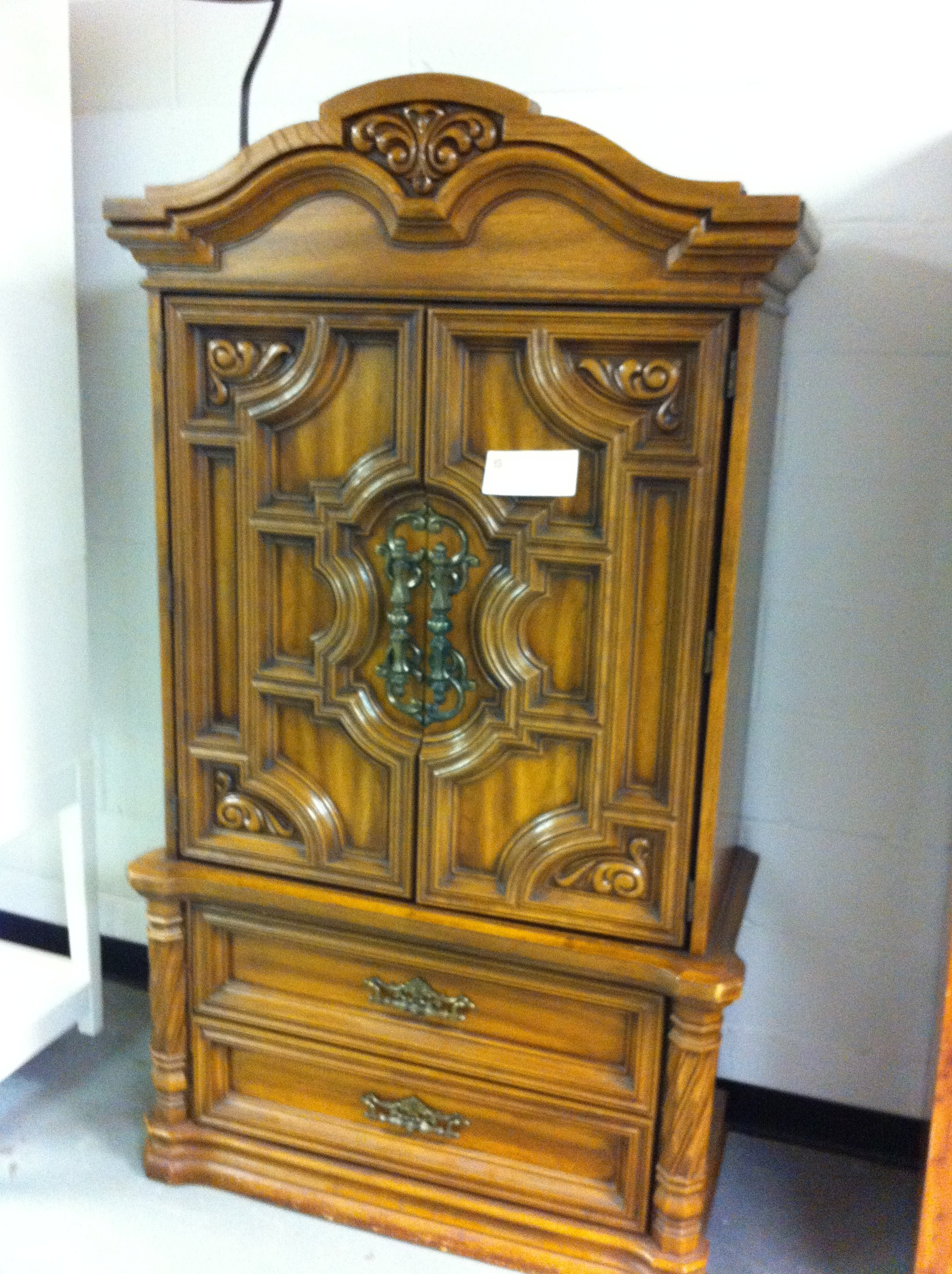 An image of an armoire from the Salvation Army