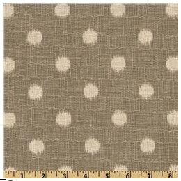 A pic of an ikat polka dot in a grey color