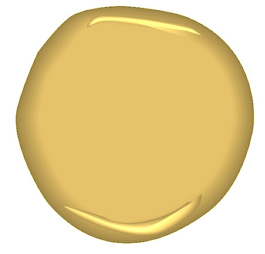 An image of a yellow paint blob