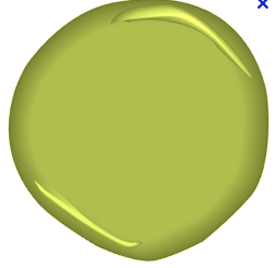 An image of chartreuse green paint blob
