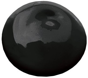 A pic of a black paint blob