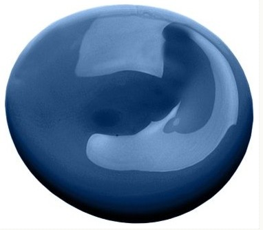 An image of a blue paint blob