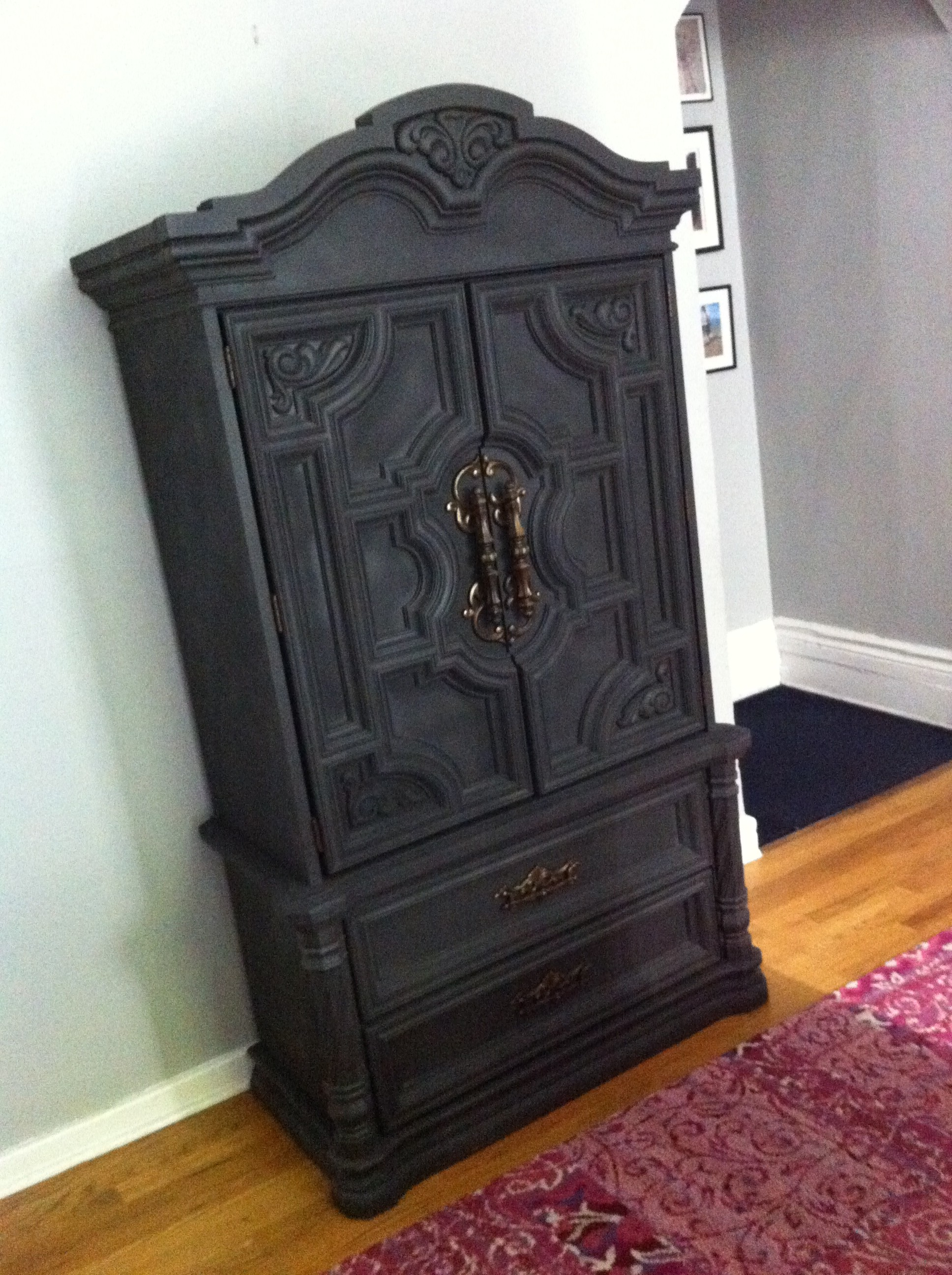 AFTER shot of the thrift store armoire