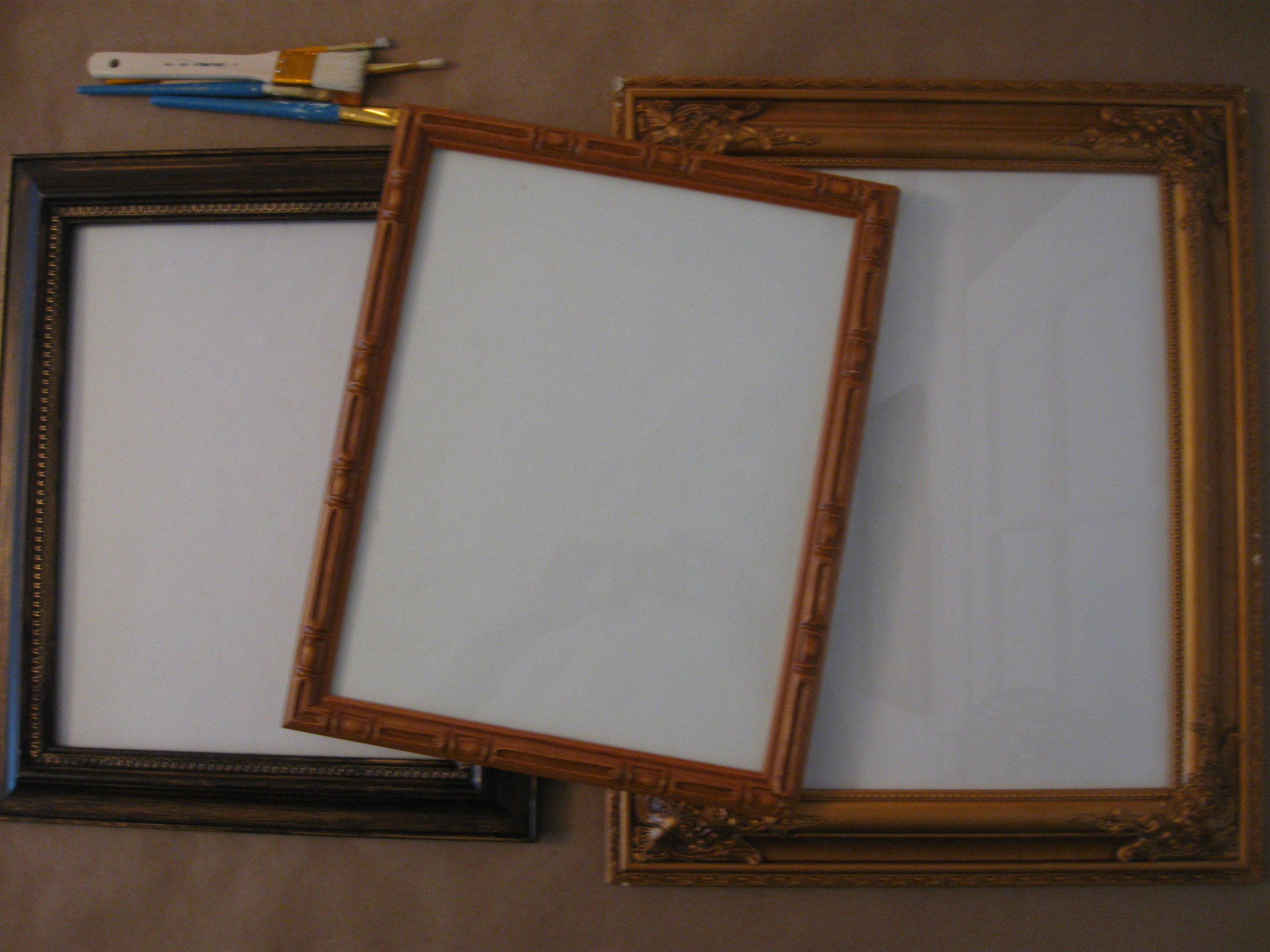 BEFORE shots of janky frames