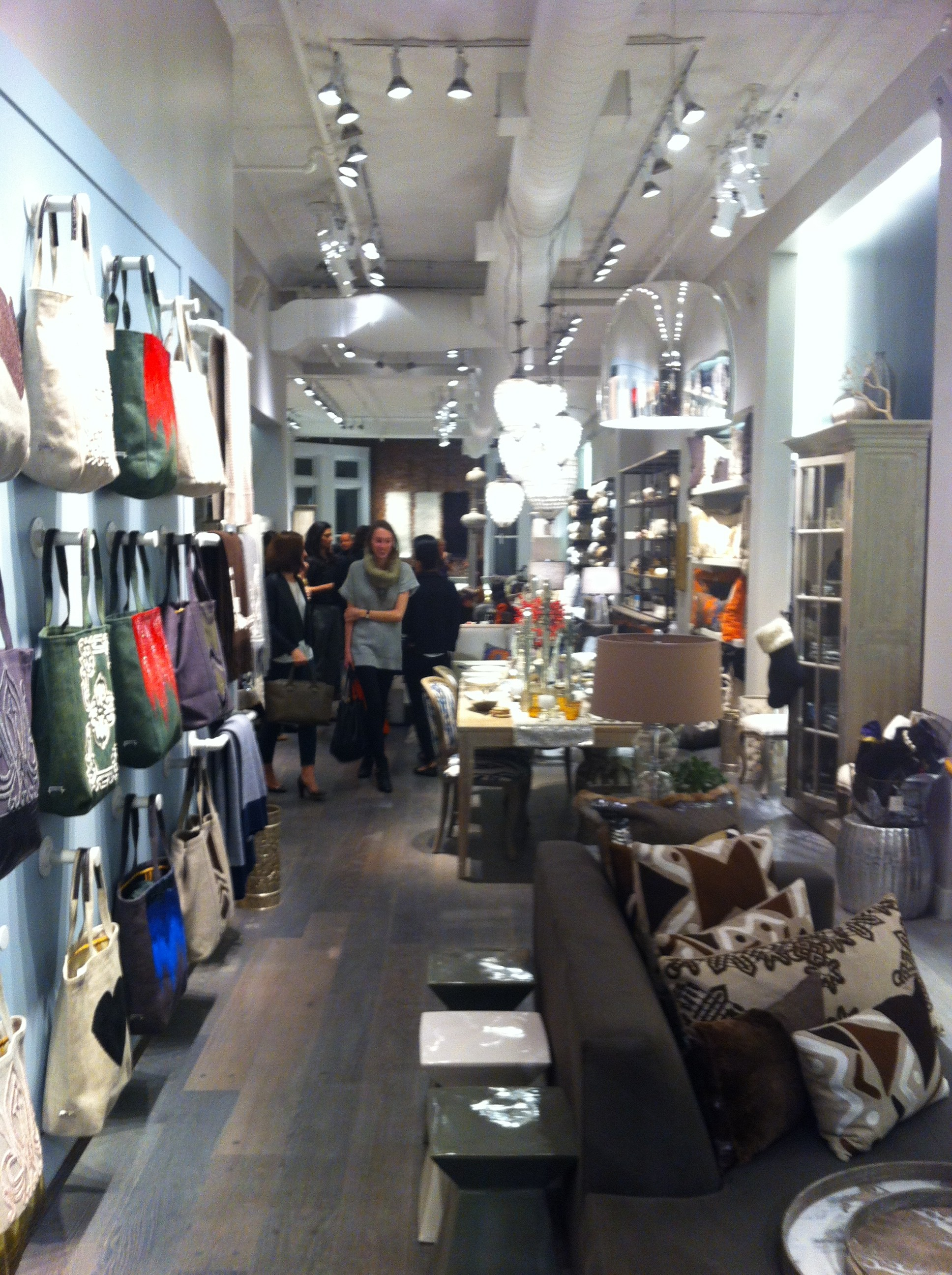An interior pic of the holiday party at Ankasa Soho store