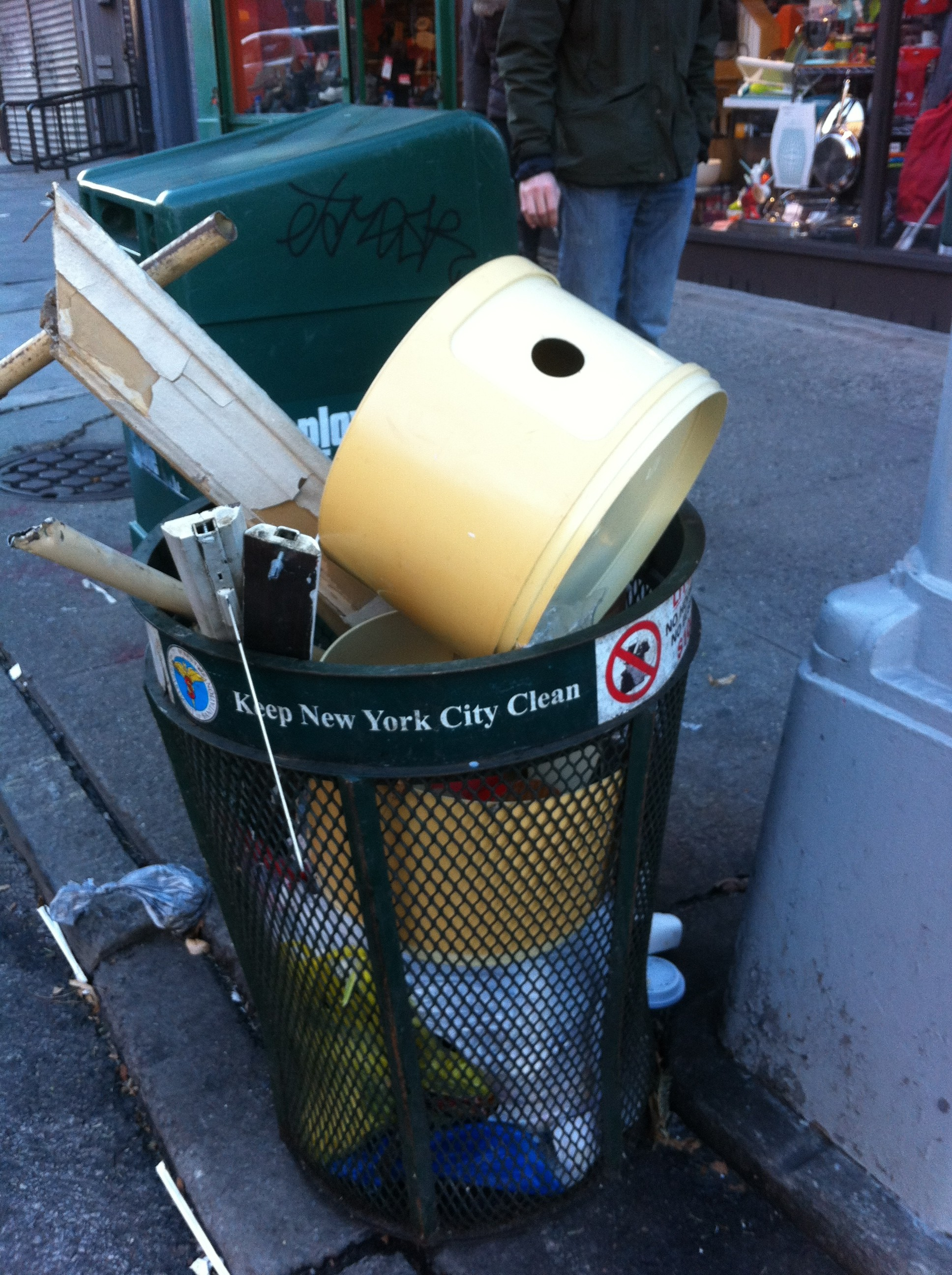 Another pic of Kartell side table in NYC trash can