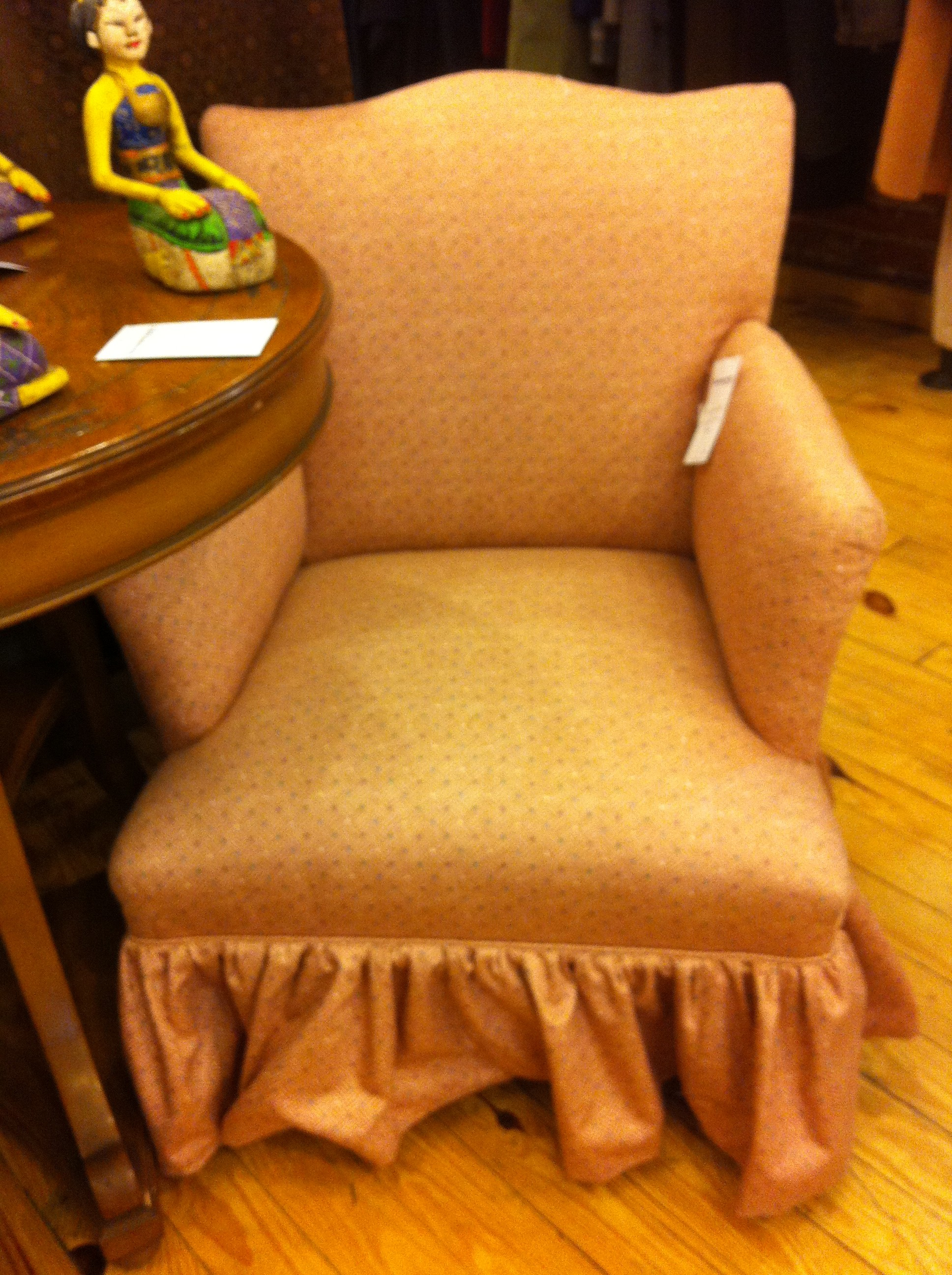 A pic of one armchair at thrift store