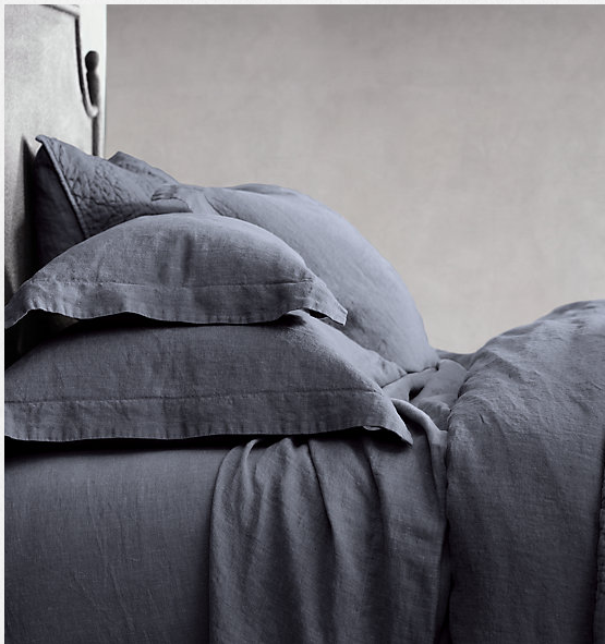 These  Restoration Hardware Belgian Linen sheets  will  UPGRADE U !