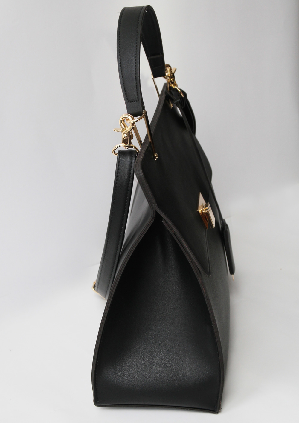 simple black leather tote irqvQyHU