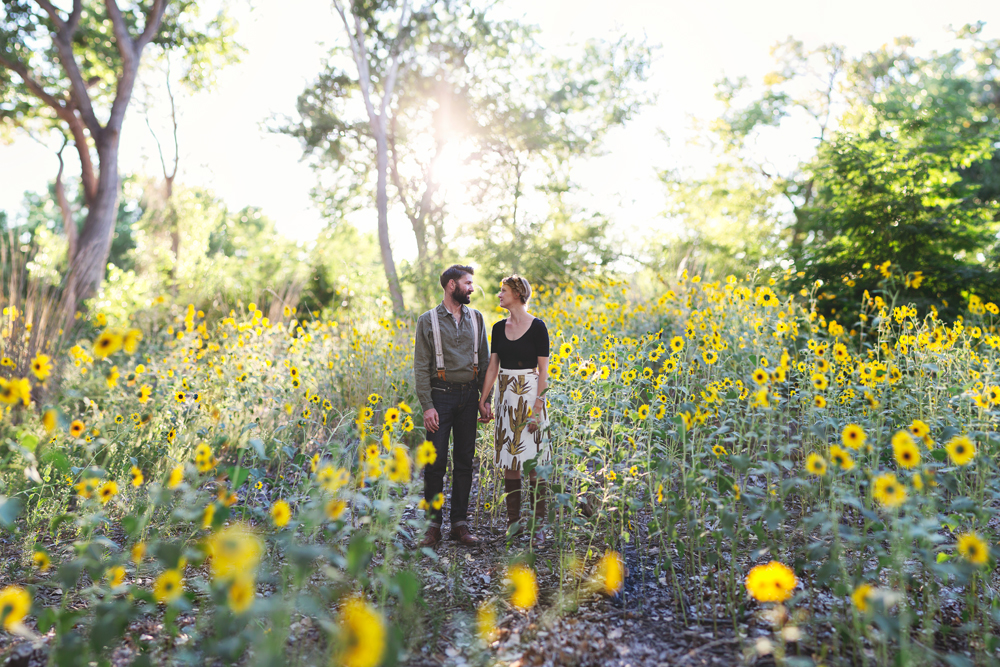 Ben + Chelsea | Albuquerque Sunflower Engagement Session | Liz Anne Photography 01