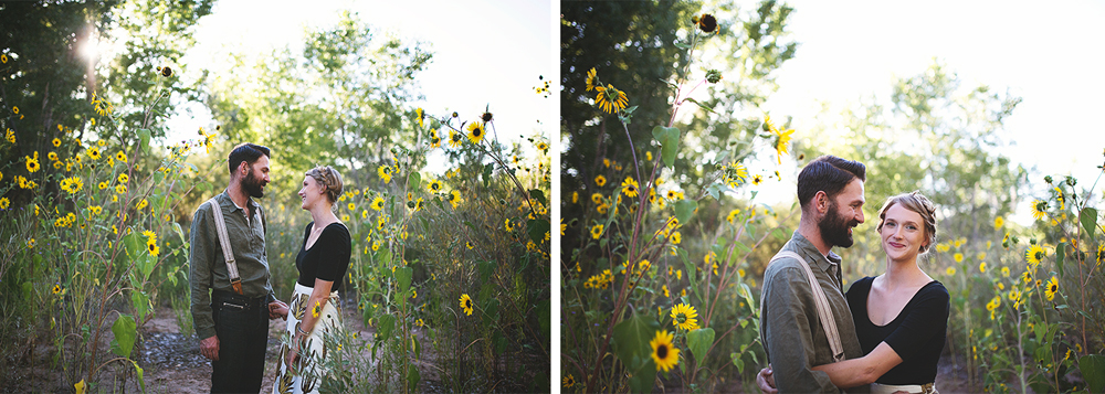 Ben + Chelsea | Albuquerque Sunflower Engagement Session | Liz Anne Photography 03