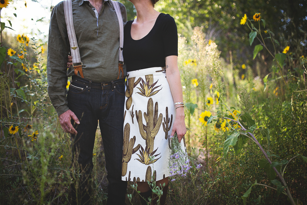 Ben + Chelsea | Albuquerque Sunflower Engagement Session | Liz Anne Photography 05