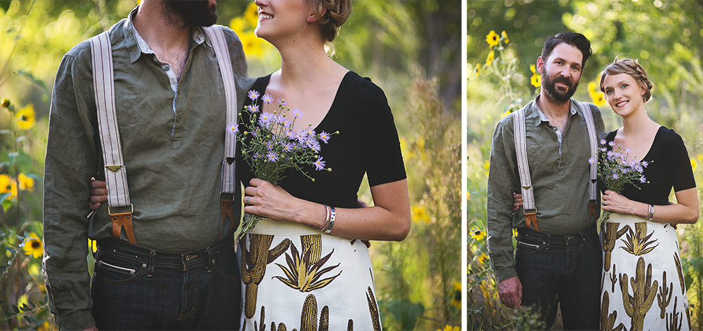 Ben + Chelsea | Albuquerque Sunflower Engagement Session | Liz Anne Photography 06