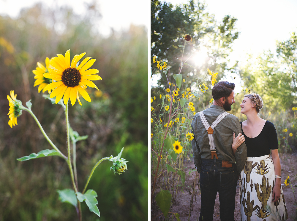 Ben + Chelsea | Albuquerque Sunflower Engagement Session | Liz Anne Photography 07