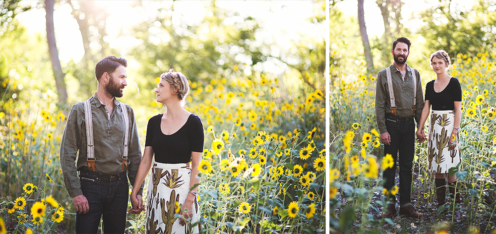 Ben + Chelsea | Albuquerque Sunflower Engagement Session | Liz Anne Photography 10