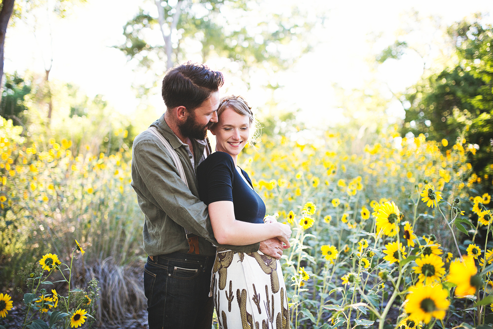Ben + Chelsea | Albuquerque Sunflower Engagement Session | Liz Anne Photography 11