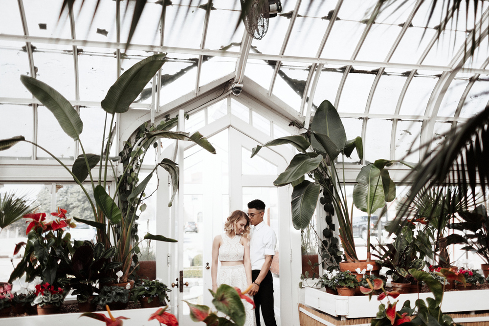 Tulsa Oklahoma Garden Center Greenhouse Engagement Session Photographer
