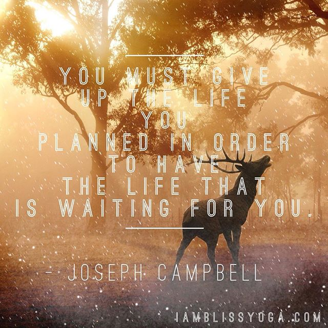 """You must give up the life you planned in order to have the life that is waiting for you."" Love this quote. Can you relate? #josephcampbellquote #selfempowerment #selfgrowth #selfdevelopment #lettinggo #yourdestiny #inspiredliving"