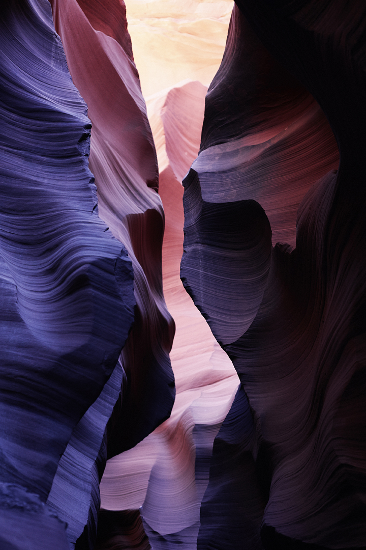 "Antelope Canyon I   2014   C-Print mounted on plexi   24"" x 16"""