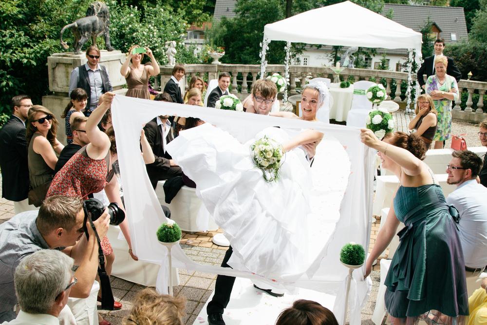 Die Braut will getragen werden