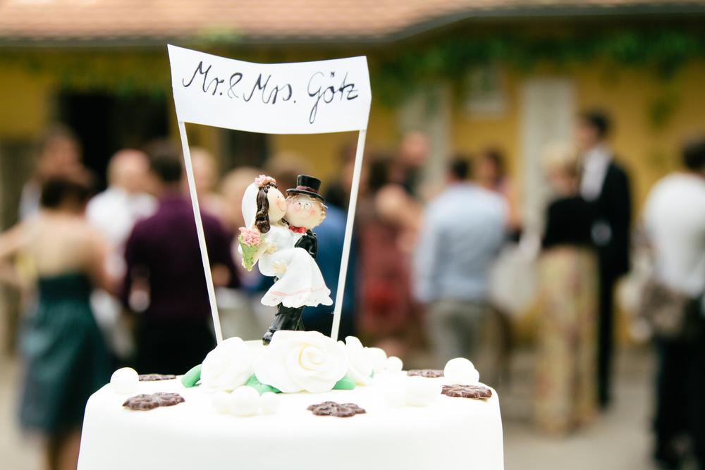 Hochzeitstorte noch heile
