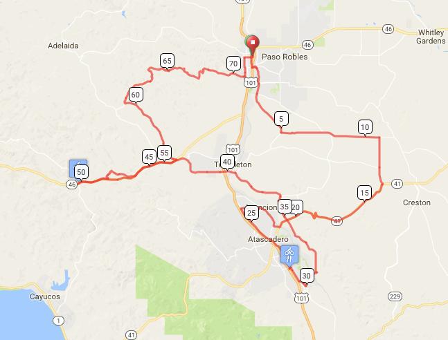 Giro di Paso Metric Century Plus. 73 miles, 5,200 feet