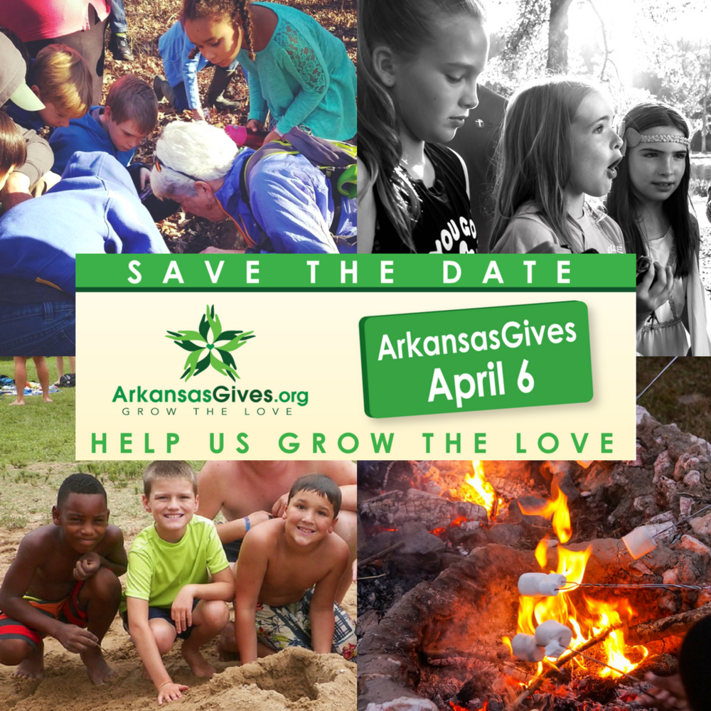 Your donations will help us develop new programming for elementary and middle school day campers, families, and the Central Arkansas community to engage with the outdoors through worship, education, recreation, and sanctuary. Donate Thursday, April 6th to help us reach our goal!