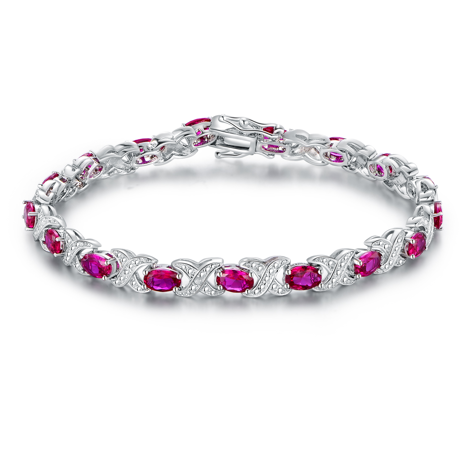 yellow ruby line bracelet and gold expertissim diamond