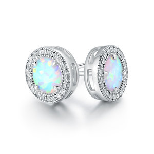 665b1286c Malia Round Opal Stud Earrings