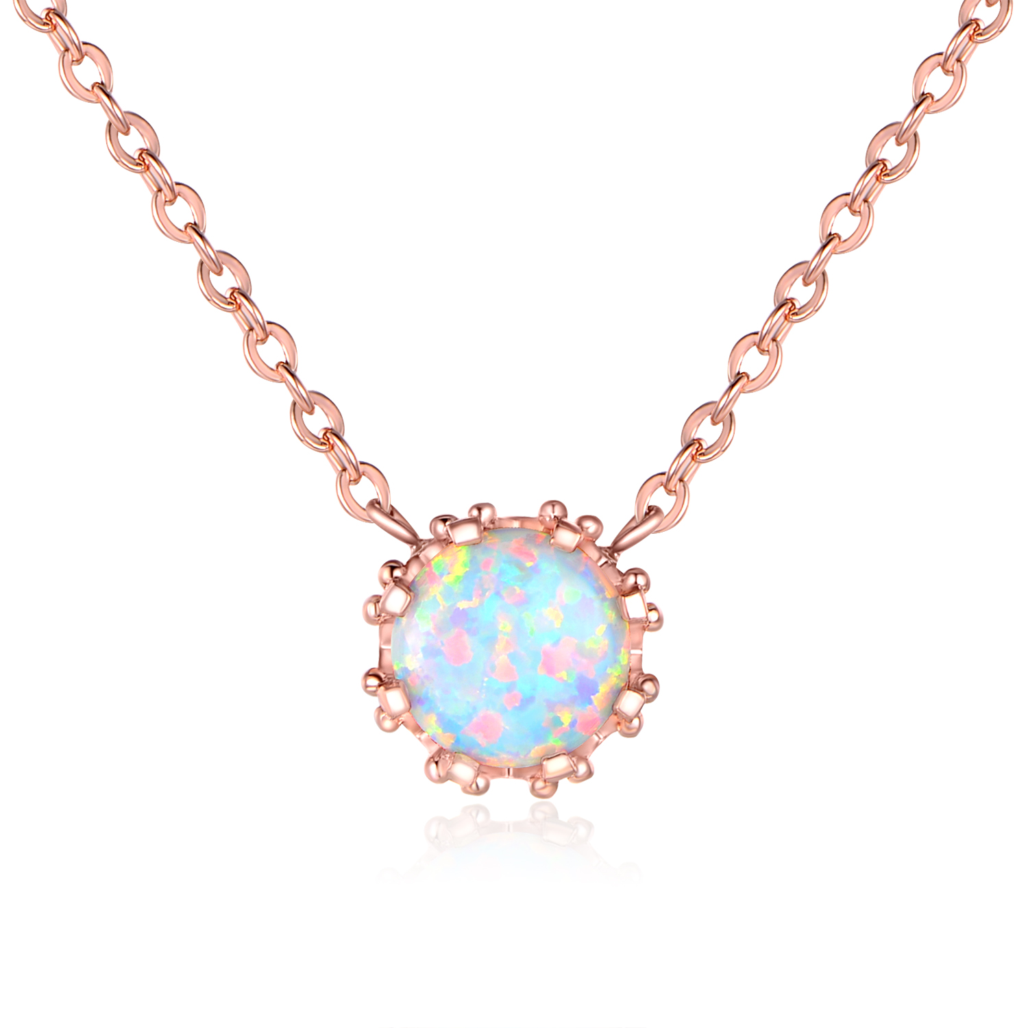 pod opal with clay long bronze pendant cabochon metal fire cz gold product vine necklace