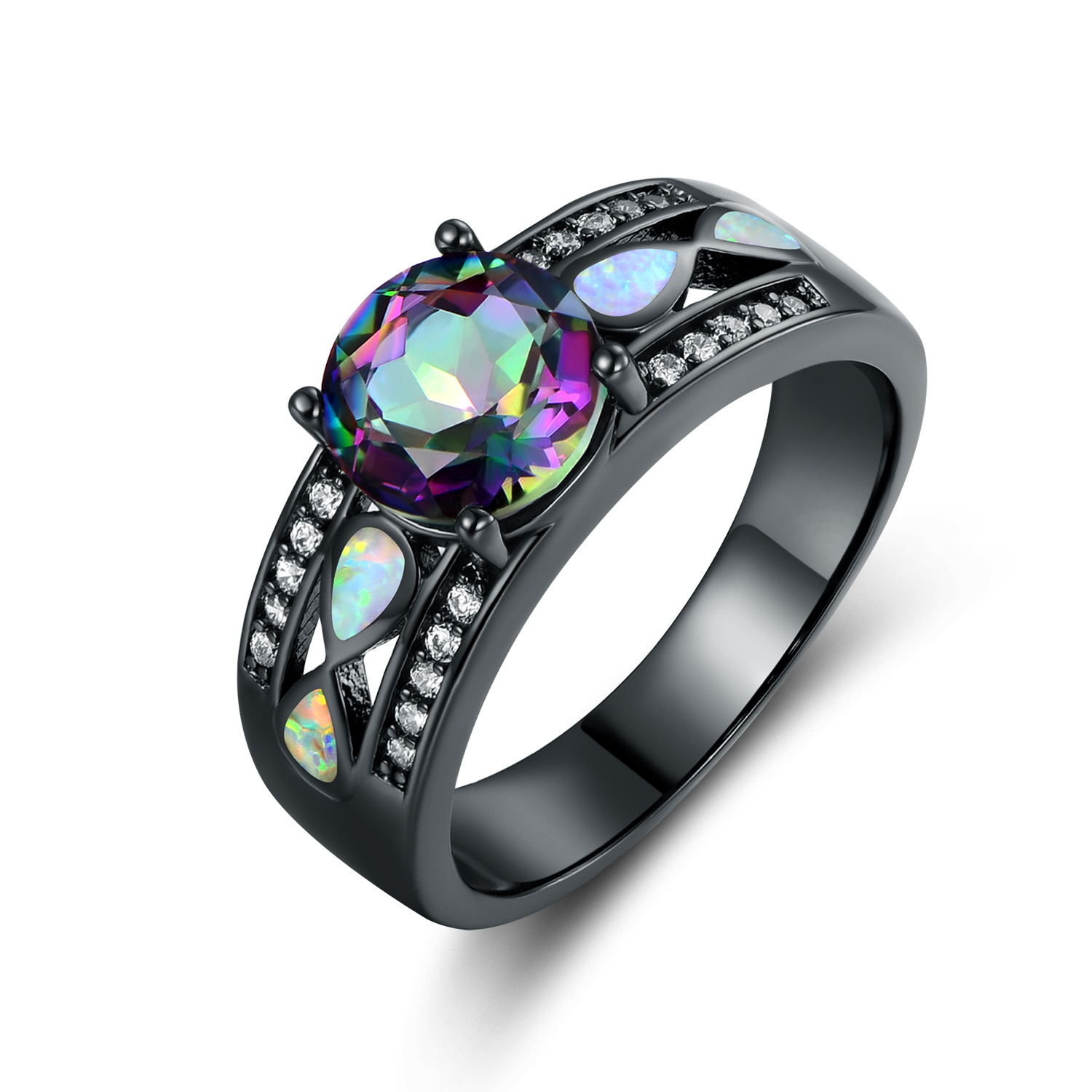 size k engagement sh ring rings black opal auctions