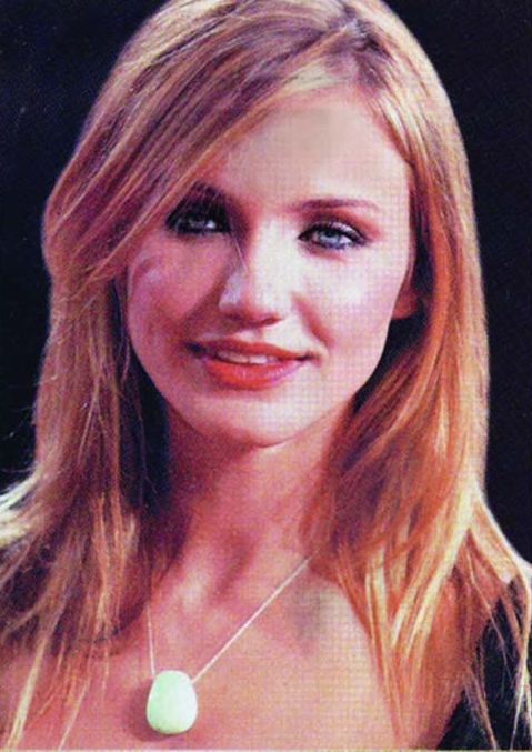 Cameron Diaz in our  Chrysoprase necklace.