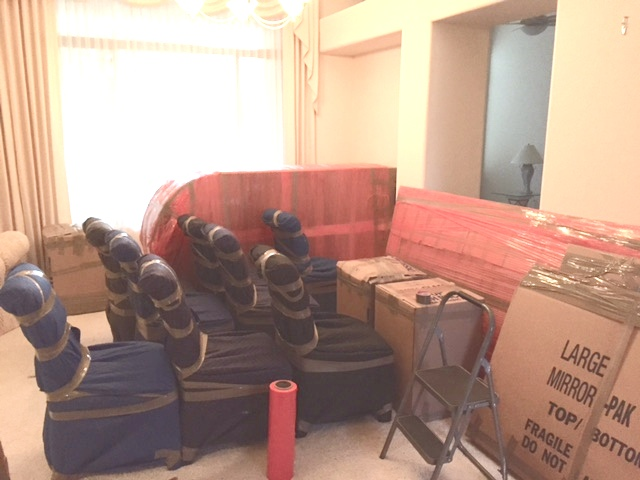 Professionally packed living room
