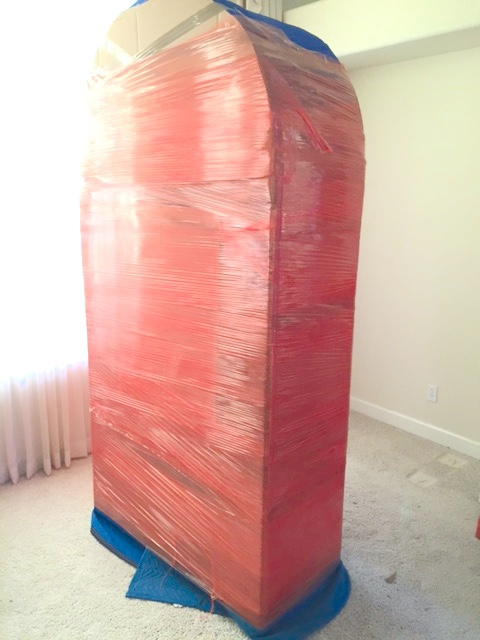 China cabinet professionally packed and wrapped