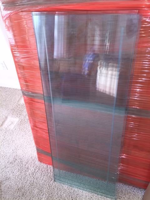 Glass China cabinet professionally packed