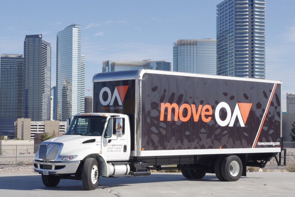 moveOn Moving truck with vegas skyline